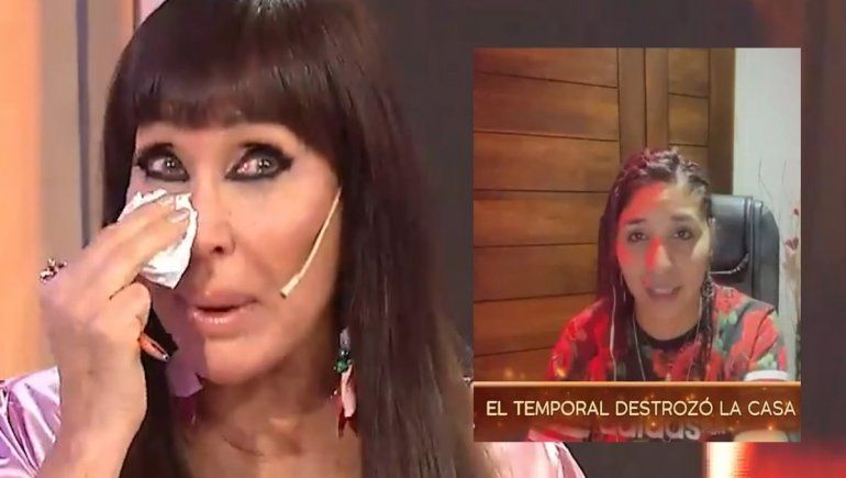 Moria le ofreció su casa a Rocío Quiroz, quebrada porque perdió todo por un temporal