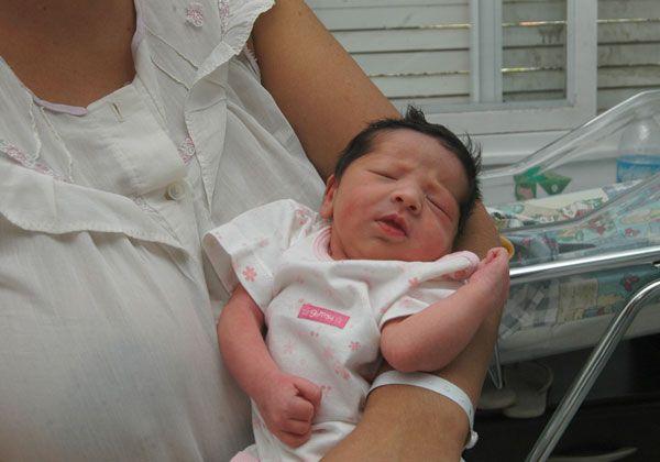 Bianca fue la primera bebé del año en Cipolletti