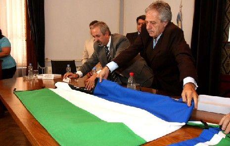 Se izo por primera vez en el territorio la Bandera de la Provincia