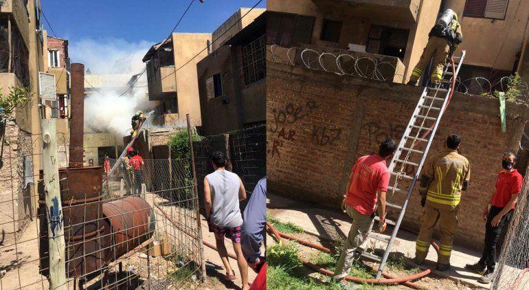 Pánico en el barrio La Paz por un incendio en una vivienda
