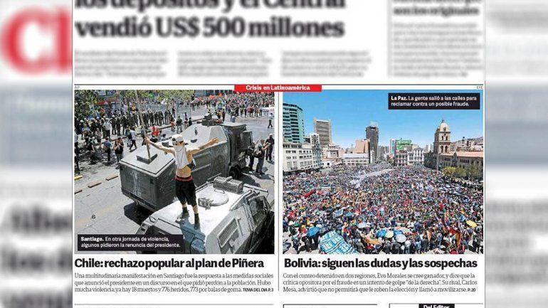 Publicaron una marcha en contra de Evo Morales, pero en realidad era a favor