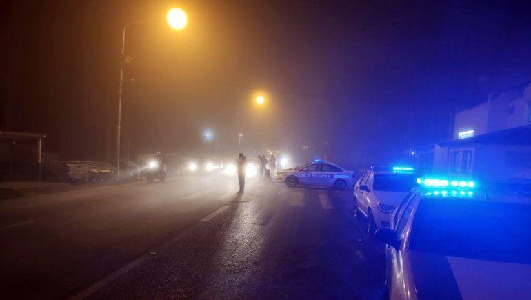 Ni el frío ni la neblina pararon los controles de alcoholemia en las rutas del Alto Valle