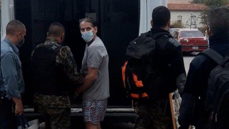 El narco Homann volvió a la cárcel y temen por su vida