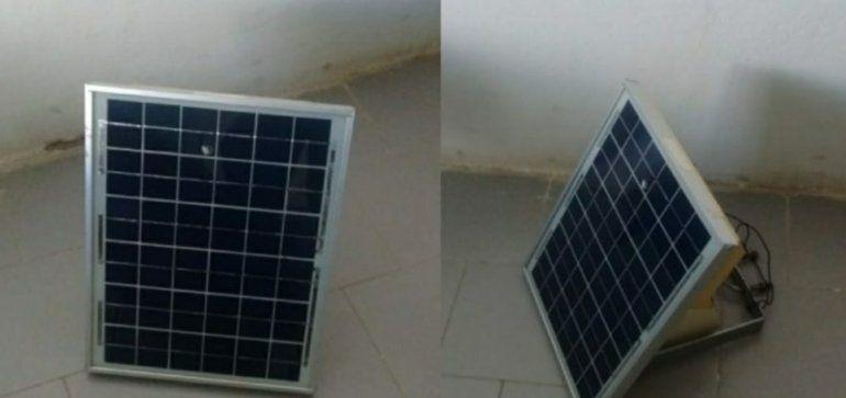 Detenidos por sustraer un panel solar de un campo