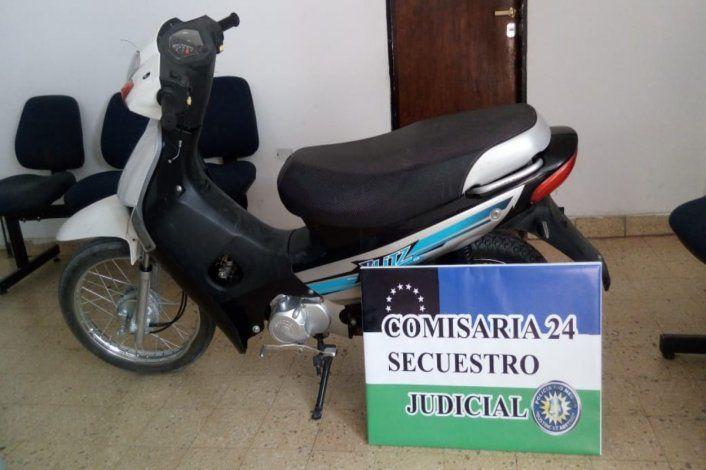 Lo sorprendieron con una moto robada en Neuquén