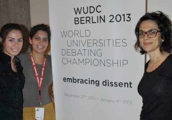 Cipoleña en el Mundial de Debate de Berlín