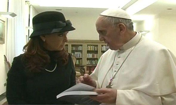 Cristina: Le pedí al papa que colabore para lograr el diálogo por las Malvinas