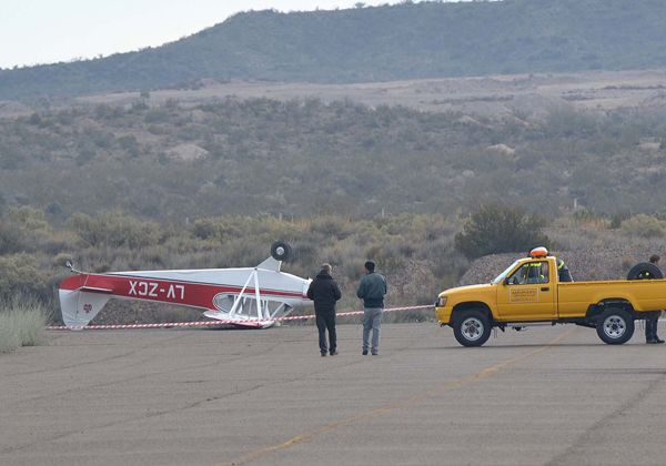 Se despistó aeronave en el aeropuerto de Roca