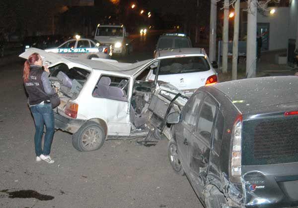 Un auto provocó choque en cadena