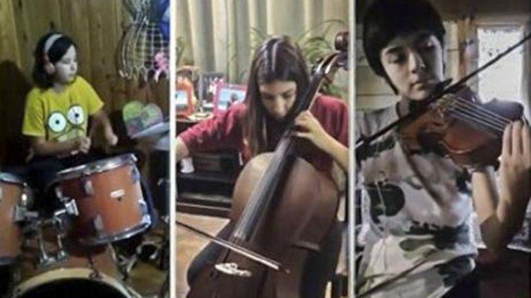 Alumnos de Río Negro y Neuquén armaron un video musical y son furor en las redes