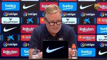 El discurso de Koeman por la crisis del Barsa y el peso de la salida de Messi