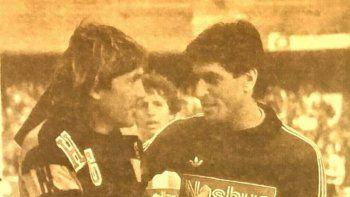 El Loco Gatti y el Pato Fillol en aquellos tiempos.
