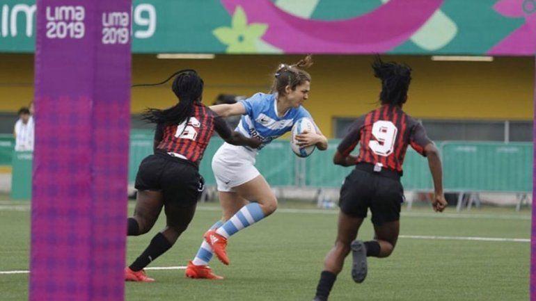 Genghini marcó un try en el triunfo de Argentina en Lima