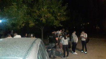 un festejo de cumpleanos clandestino se salio de control y termino con dos detenidos