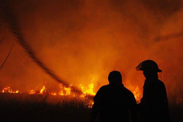 Otro incendio en la zona de La Falda