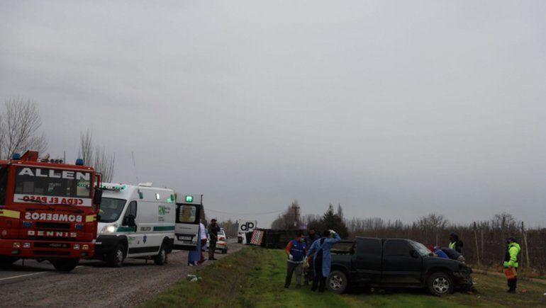 Murió el hombre que chocó contra el camión mosquito sobre la Ruta 22