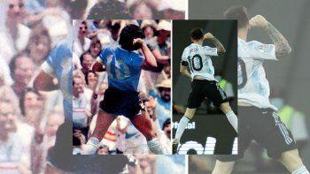 ¿Homenaje?: el festejo de Messi idéntico al de Diego ante los ingleses