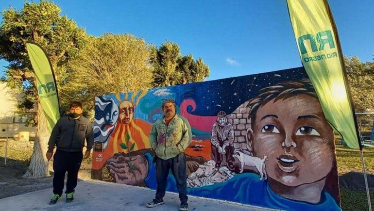 Seis murales inmortalizaron el eclipse en distintos puntos de la provincia