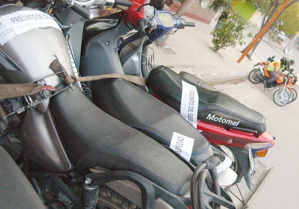 Tránsito secuestró 30 motos durante la semana