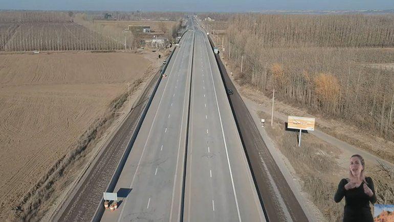 Fernández dejó inaugurados los puentes de Ruta 22