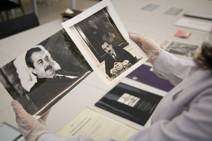 El archivo del expresidente Alfonsín es patrimonio de Nación.