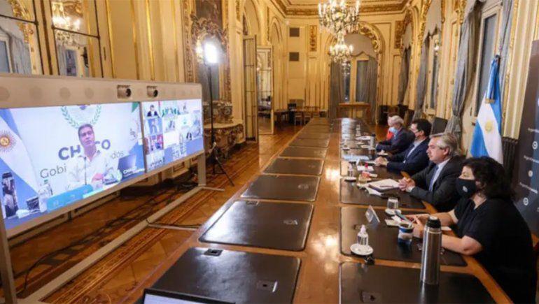 El Presidente se reúne con gobernadores para analizar la situación epidemiológica