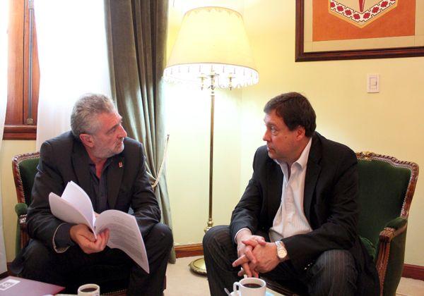 Weretilneck recibió al rector de la Universidad de Río Negro