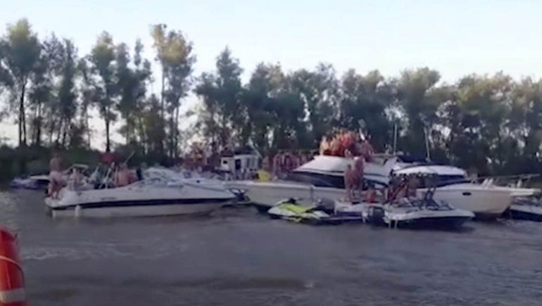 Desbarataron impresionante fiesta clandestina a bordo de un yate