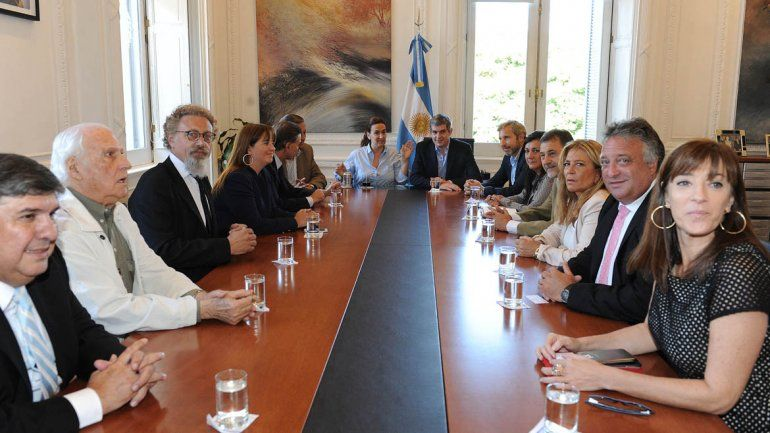 Gabriela Michetti se reunió con senadores