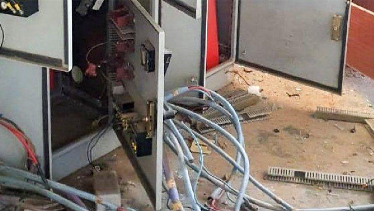 Destrozaron la planta de tratamiento de líquidos cloacales de Allen