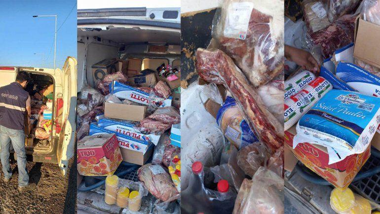 Secuestran 190 kilos de carnes y lácteos en Río Negro