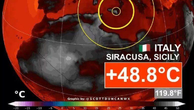 Europa en llamas: Italia rozó los 50°C y España emitió un alerta