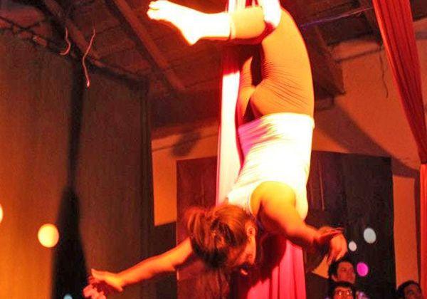 Espectáculo circense en Fernández Oro