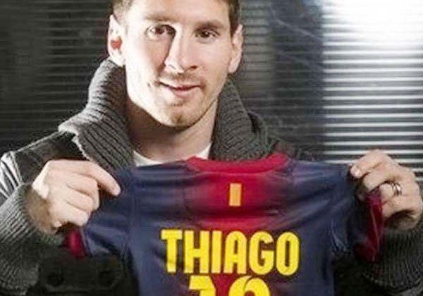 LLegó Thiago Messi