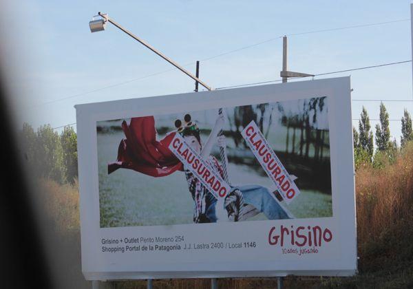Clausuraron carteles publicitarios en la Ruta 22