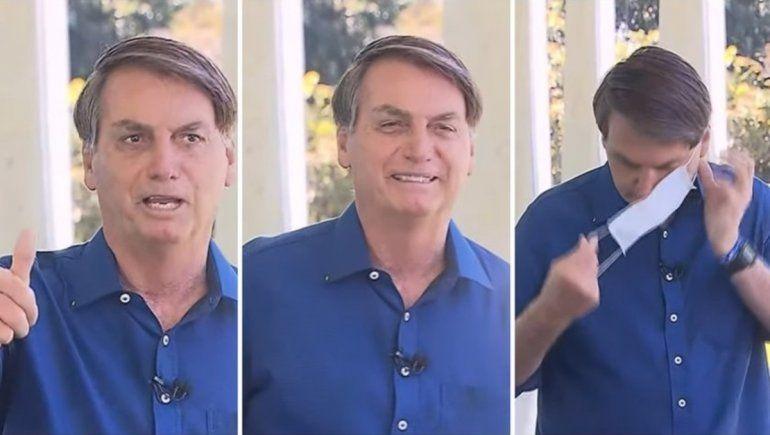 Demandarán a Bolsonaro por sacarse el barbijo al anunciar su positivo