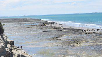 Otro día de calor en Las Grutas, ideal para estar cerca del mar.
