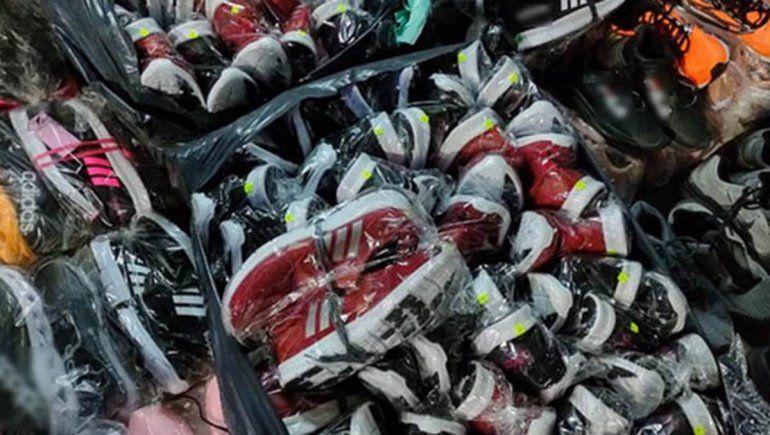 Incautaron en Río Negro 164 pares de zapatillas truchas