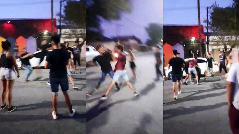 Batalla campal a la salida de un boliche en Catriel