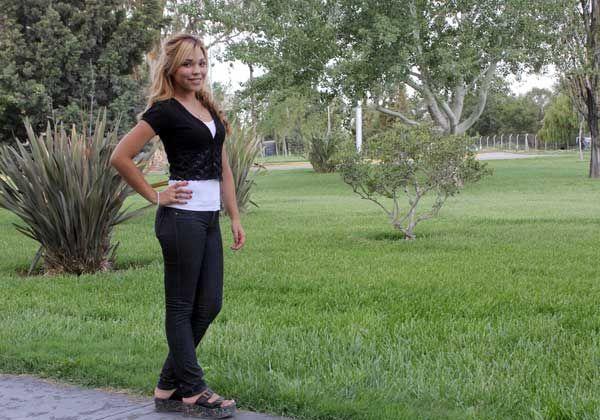 Sheila Herrera, la candidata local en la Fiesta de la Pera