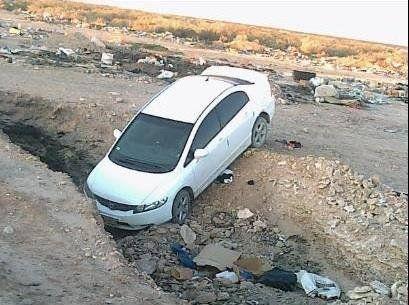 El Honda Cívic apareció abandonado en Casimiro Gómez