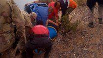 rescataron a una senderista lesionada en la margen sur