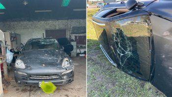 El publicista Agulla casi se mata en una ruta con su Porsche