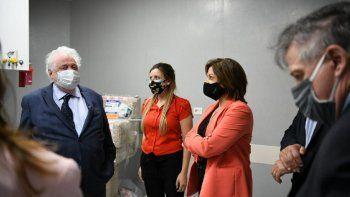 arabela y gines recorrieron el nuevo hospital de catriel