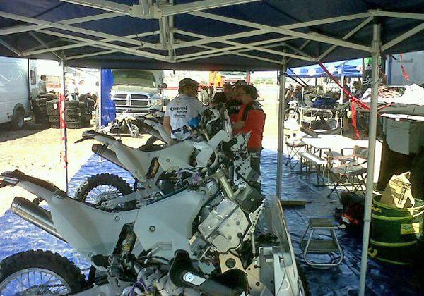 Dakar: Busin y su moto ya están en Mar del Plata
