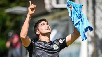 Doblete del Tuti Del Prete en Uruguay y dedicatoria a Diego