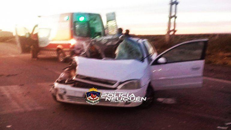 Terrible accidente y milagro en la Autovía Norte