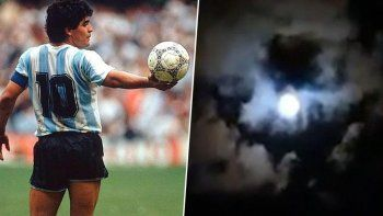 Increíble: apareció la silueta de Maradona en el cielo de Paraná