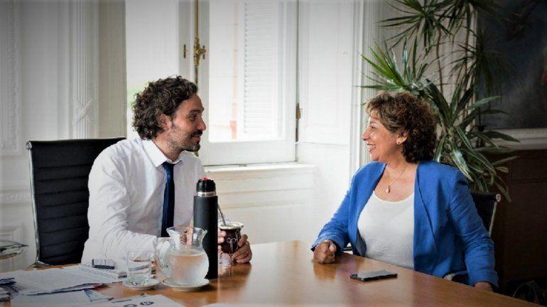 Cafiero recibe a Arabela Carreras en Casa Rosada