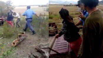 brutal agresion a guardaparque que hacia una multa